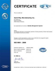 Quick-Way ISO Certification