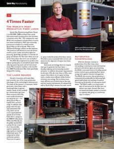 Amada eNewsletter 04/14 - Quick-Way Manufacturing - Euless (DFW) TX