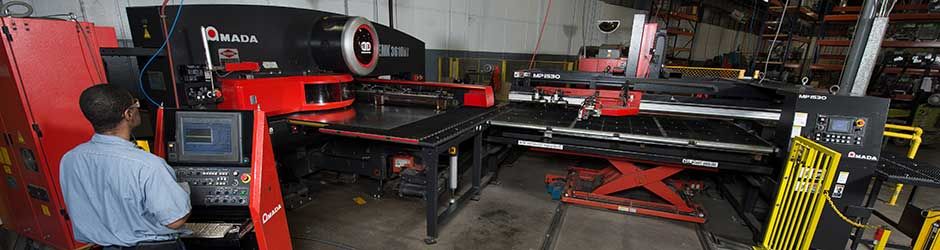 Quick-Way Manufacturing - CNC Turret Punch Press - Euless TX